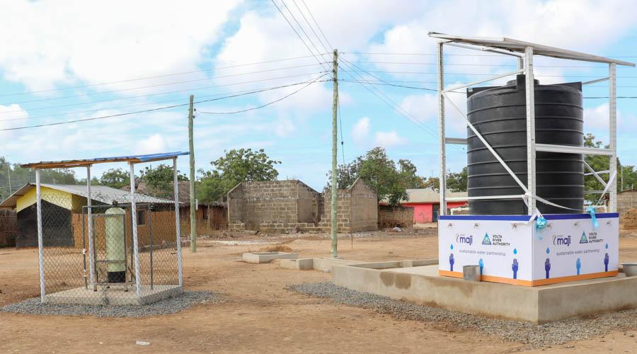 Newly Constructed water facility located at Teikpitikope - Angornya